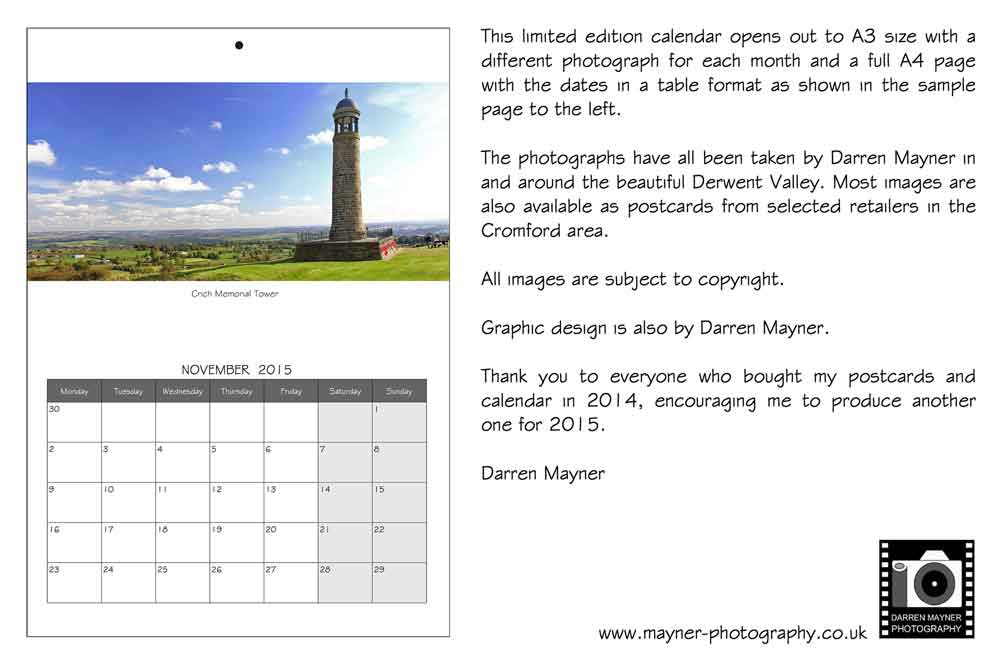 Darren Mayner Photography Derbyshire Calendars